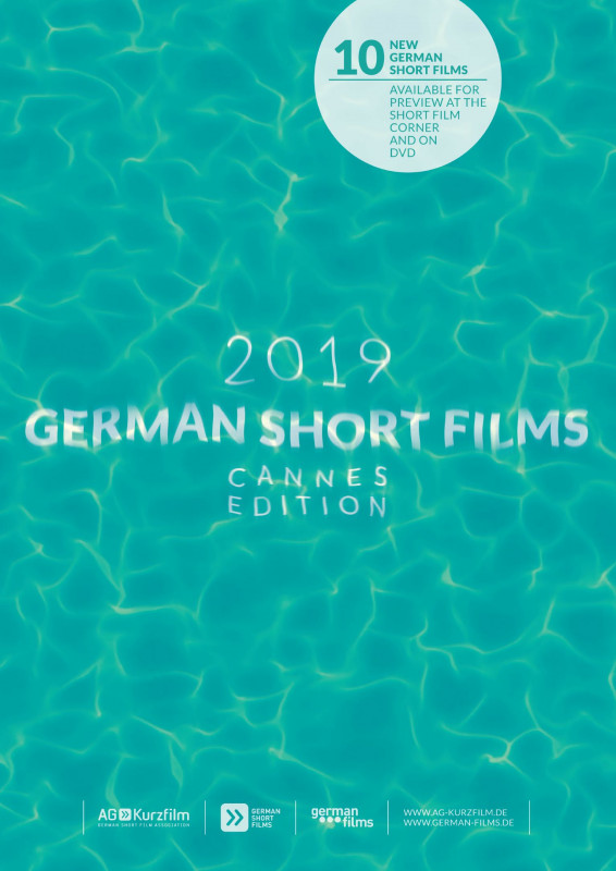 Plakat German Short Films in Cannes: Der Schriftzug unter Wasser.