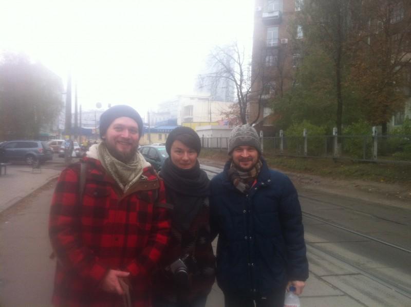 Gemeinsam mit ukrainischen Filmemachern auf Suche nach Bildern in Kiew