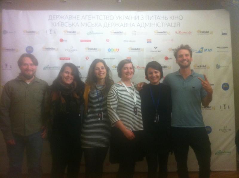 Die AG Kurzfilm-Reisegruppe im Festivalkino Kiew